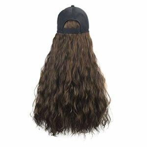Yue668 Perruque à Capuche 65cm/26in, Santé Et Beauté, Chapeau De Perruque De Cheveux Long Et Droit, Perruque De Chapeau Décontracté
