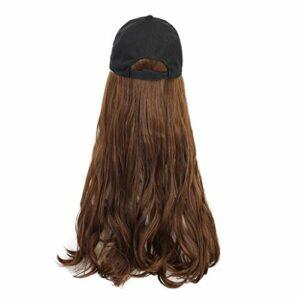 Yue668 Perruques Naturelles Dans Les Perruques à Capuchon, Santé Et Beauté, Chapeau De Perruque De Cheveux Long Et Droit, Perruque De Chapeau Décontracté