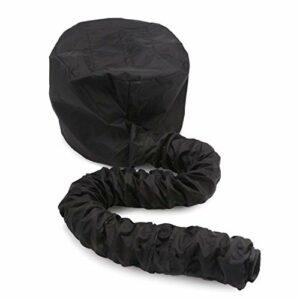 ZGYQGOO Fixation sèche-Cheveux pour Capuchon Capuchon – Bonnet à Capuchon Ajustable Ultra-Large pour sèche-Cheveux à Main avec poignée Extensible et Longueur Tuyau rallongée (Noir)