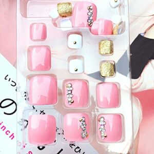 ZOUD J59 Lot de 24 faux ongles professionnels avec strass