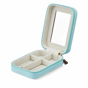 ZZL Lip Lipstick Holder MIRLER Main Makeup Organisateur Lipstick Lip Gloss Storage Sac de Maquillage Petite Fermeture à glissière (Color : Blue)