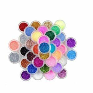 45 Couleur Nail Art Maquillage Décoration Poussière Glitter Poudre