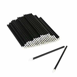 50 Pack Jetable Eyeliner Brush Applicateur Cosmétique Brosse À Lèvres Eye Wands Outil De Maquillage Sourcils Cils Brosse (Color : White)