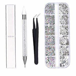 Art Décorations Strass Nail Picking Pen Dotting Pen Nails brucelles pour les filles Art bricolage Nail Designs Manucure Décoration Soins Ongles