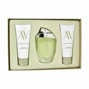 Av de Adrienne Vittadini Pour Femme 3 Pc. Coffret Cadeau (Eau de Parfum Vaporisateur 90 ml+ Lotion de Corps 100 ml + Gel de Douche 100 ml)