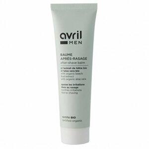 AVRIL – Baume après-rasage – Bio certifié – Aloe vera – Peau douce, lisse et hydratée – Apaise et tonifie – Revitalise la peau – Vegan – 100ml