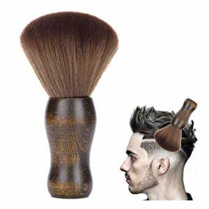 Balais à cou brosse à cheveux Nettoyage Coupe de Cheveux Plumeau Brosse Plumeau pour le Cou Cheveux Salon de Coiffure Balais à Cou Brosse à Cheveux Brosse pour le nettoyage du coiffeur(Marron)