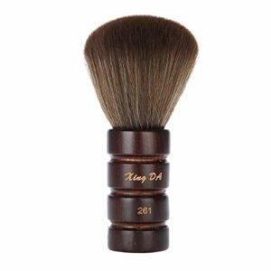 Balais à Cou Brosse à Cheveux pour Salon de Coiffure, Premium Pear Wood Handle Small Design Hairdressing Neck Face Duster Brush Suitable for Professional Salon and Home Use (#1)