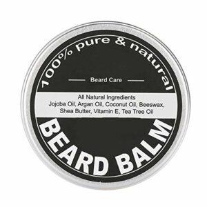 Baume de toilettage de barbe, baume hydratant de barbe de soin de cire de barbe pour le toilettage de barbe