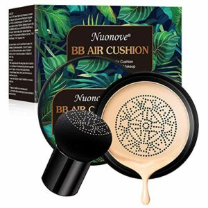 BB Cream, CC Creme, Air Cushion BB Cream, Foundation Liquide, Concealer, Mushroom Head Air Cushion, Correcteur durable maquillage nude hydratant éclaircissant Pigment BB fond de teint liquide