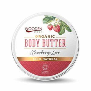 Beurre de Karité Bio | Doux et moelleux | Soins Ultra Naturels De La Peau et Des Cheveux | Hydrate les Mains, les Pieds, le Corps | 100% PRODUIT NATUREL | 100 ml (Strawberry Love)