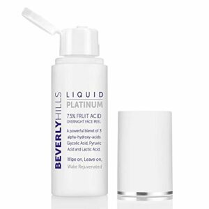 Beverly Hills – Liquid Platinum Gommage pour visage composé à 7,5% d'acides de fruits et enrichi en trois acides a-hydroxylés (50 ml)