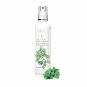 BIO Eau florale de Mélisse (Melissa officinalis) 100% naturelle (250ml) qualité supérieure de notre propre entreprise familiale, spray comme tonique pour le visage et capillaire, soin de jour