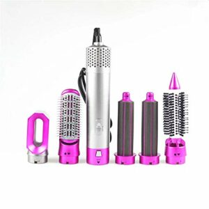 Brosse Coiffante,Hair Dryer Brush,Brosse Lissante Chauffant,One-step Sèche Cheveux Volumisant,Electrique Multifonctionnels Brosse Air Chaud-Rose