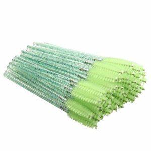 Camisin Paquet de 300 Baguettes de Jetable Pinceaux pour Cils pour les Extensions Cil Jeus D'Outils de Maquillage Applicateur – Vert