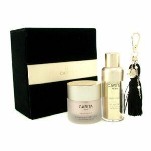 Carita – Progressif Perfect Collection: Perfect Gold Serum + Body Perfect Cream + Pendant + Box 3Pcs+1Box – Soins De La Peau