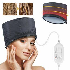 Casques Chauffant Cheveux SPTHTHHPY Bonnet Chauffant pour Soins Capillaires,Traitement Thermique pour Soins Capillaires, Bonnet Chauffant Cheveux, Température de 2 Modes