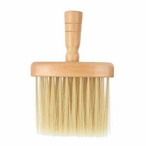 Cou Visage Duster Brosse Salon Nettoyage De Cheveux En Bois Balayage Brosse Cheveux Coupés De Coiffure Outil