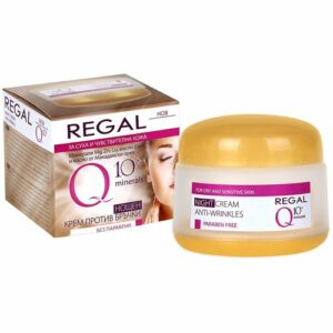 Crème de nuit Anti-rides REGAL Q10 plus aux minéraux pour peaux sèches et sensibles