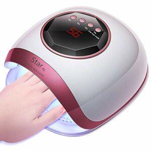 Czcrm La plus chaude machine de photothérapie à ongles 72W 30LED lampe UV ongles séchoir manucure lampes de capteur de pédicure for le durcissement de tous les vernis en gel avec salon de la minuterie
