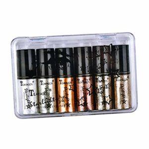 dailymall 6 Couleurs Glitter Shimmer Ensemble de Fard à Paupières Liquide Anti-taches Corps Ombre à Paupières