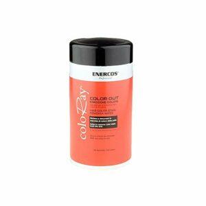 ENERCOS PROFESSIONAL Dissolvant pour cheveux, Lingettes pour éliminer les résidus de teinture capillaire, formule intégrée à l'extrait d'Aloe vera pour éviter les irritations cutanées, tissu en coton