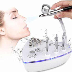 Ensemble aérographe de maquillage, 2 en 1 nettoyant pour le visage puissance d'aspiration Machine professionnelle de dermabrasion Machine d'exfoliation par pulvérisation d'eau pour un usage domestique