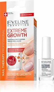 Eveline Cosmetics Baume à Ongles Nail Therapy Protein Extreme Growth 12 ml + Fluid