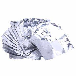 Everpert 100pcs/sac Nail Art Outil Vernis à ongles retrait papier aluminium Feuille W/coton à l'intérieur