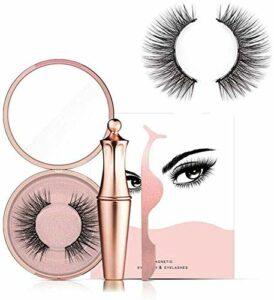 Faux cils magnétiques et eye-liner liquide, ensemble d'outils de maquillage pour les yeux naturels de longue durée avec pince à épiler, aucune colle nécessaire(Diamond)