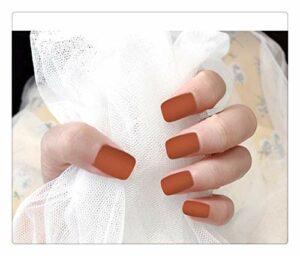Faux Ongles Style Européen Et Américain Longs Ongles Plats Manucure Ongles Faux Pâte À Ongles Viande Gommage Matte Faux Ongles