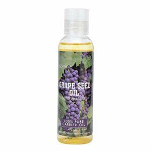 Fictory Huile de Support – 118ml Pure Natural Huile de Support de pépins de Raisin Huile hydratante de Soin des Cheveux pour Le Corps
