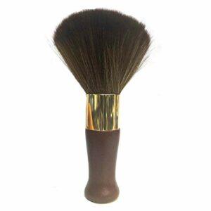 FRCOLOR Cou Plumeau Brosse Doux Barbier Visage Nettoyage Brosse à Cheveux Cheveux en Bois Poignée Coupe Kits