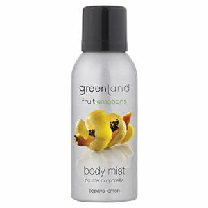 Greenland Papaya Spray corporel pour le corps 75 ml Vegan & sans tentatives d'animaux