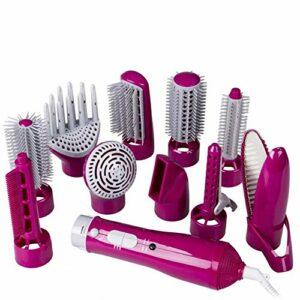 Hot Air Sèche-Cheveux Brosse, Une étape 10 dans 1 Sèche-Cheveux et bouclés Volumizer Lisseur Styler Peigne Salon Multi-Fonctionnel d'ions négatifs Styler, réduire Frizz ggsm