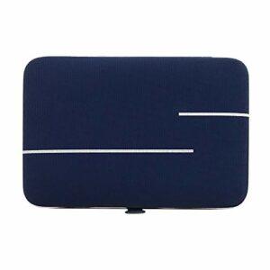 JenLn Manucure 18 pièces Nail Set Outils Pédicure Ongles en Acier Inoxydable Clippers Trousse de Toilette Clippers Ongles et Ongles (Color : Blue, Size : 15.5×10.3cm)