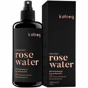 KATREG Eau de Rose Bio Rose Water – Tonifiant Naturel pour la Peau et les Cheveux – Lotion Hydratante, Rafraîchissante, Nettoyante, Tonique et Apaisante – Distillation Double de Pétales de Rose Spray