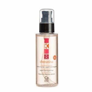 K-Cheratina Liquida – Sérum Professionnel à la Kératine Hydrolysée et Huile d'Argan pour Cheveux Abîmés – Traitement Professionnel Hydratant et Restructurant – 100 ml