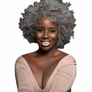 Koojawind Perruques De Mode Des Femmes D'Argent SynthéTique Cheveux Courts Perruques Perruque De Cheveux Vague, Perruque BréSilienne De Cheveux Humains Cheveux Courts BoucléS Avant De Lacet