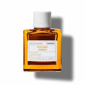 Korres Eau de Toilette Oceanic Amber 88% d'Origine Naturelle Parfum Frais/Intense 50 ml