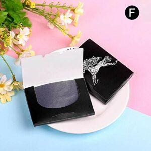 lefeindgdi Lot de 5 feuilles de papier buvard premium pour le visage pour les soins de la peau grasse ou le maquillage