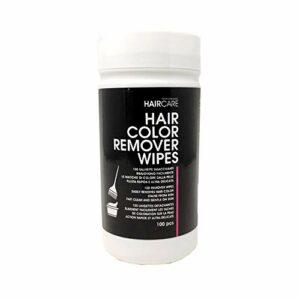 Lot de 100 lingettes pour enlever les pertes de couleur pour cheveux professionnels.