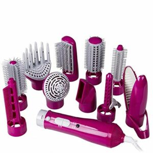 LTLJX Hot Air Sèche-Cheveux Brosse, Une étape 10 dans 1 Sèche-Cheveux et bouclés Volumizer Lisseur Styler Peigne Salon Multi-Fonctionnel d'ions négatifs Styler, réduire Frizz LUDEQUAN