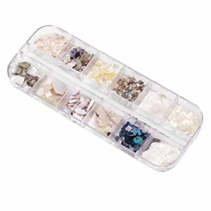 Lurrose Naturel mer 3d charme nail art mettre en valeur les ongles paillettes diy ongles beauté accessoires