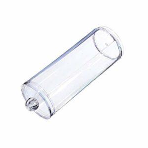 Maquillage coton transparent coton Container Pad Holder Distributeur rond avec couvercle