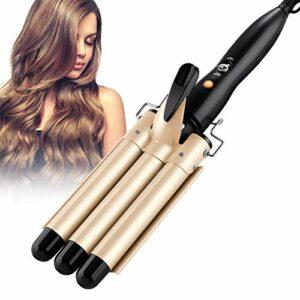 MOREASE Fer à onduler 3 Barils Fer à boucler en Céramique Grandes Vagues Cheveux Curleur Fer à Friser Bigoudis à Chauffage Rapide pour Cheveux Long/Courts avec Gants Anti-brûlure