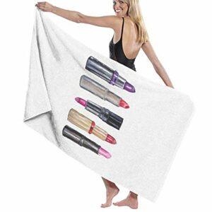 N+A Lipstick Serviette de bain à séchage rapide