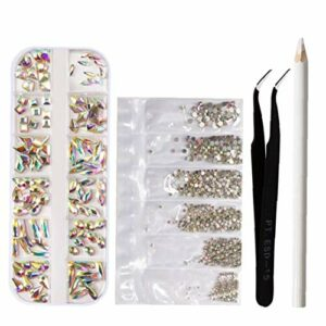 Nail Art Strass mixte Kit cristaux multi Formes Gems Nails Peinture Pen pincettes bijoux ongles point de forage crayon ensemble pour les fournitures Nail Art Accessoires 1pc