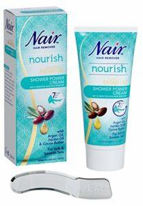 Nair – Douche Power Cream – Pour peaux sèches et sensibles – avec huile d'argan, huile de jojoba et beurre de cacao – 200ml