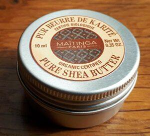 NOUVEAU – Maïtinga Paris – Baume lèvres et mains – Pur beurre de karité – Certifié Bio 100% naturel – 10 ml